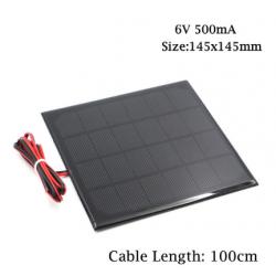 Солнечная панель 6В, 500мА,...